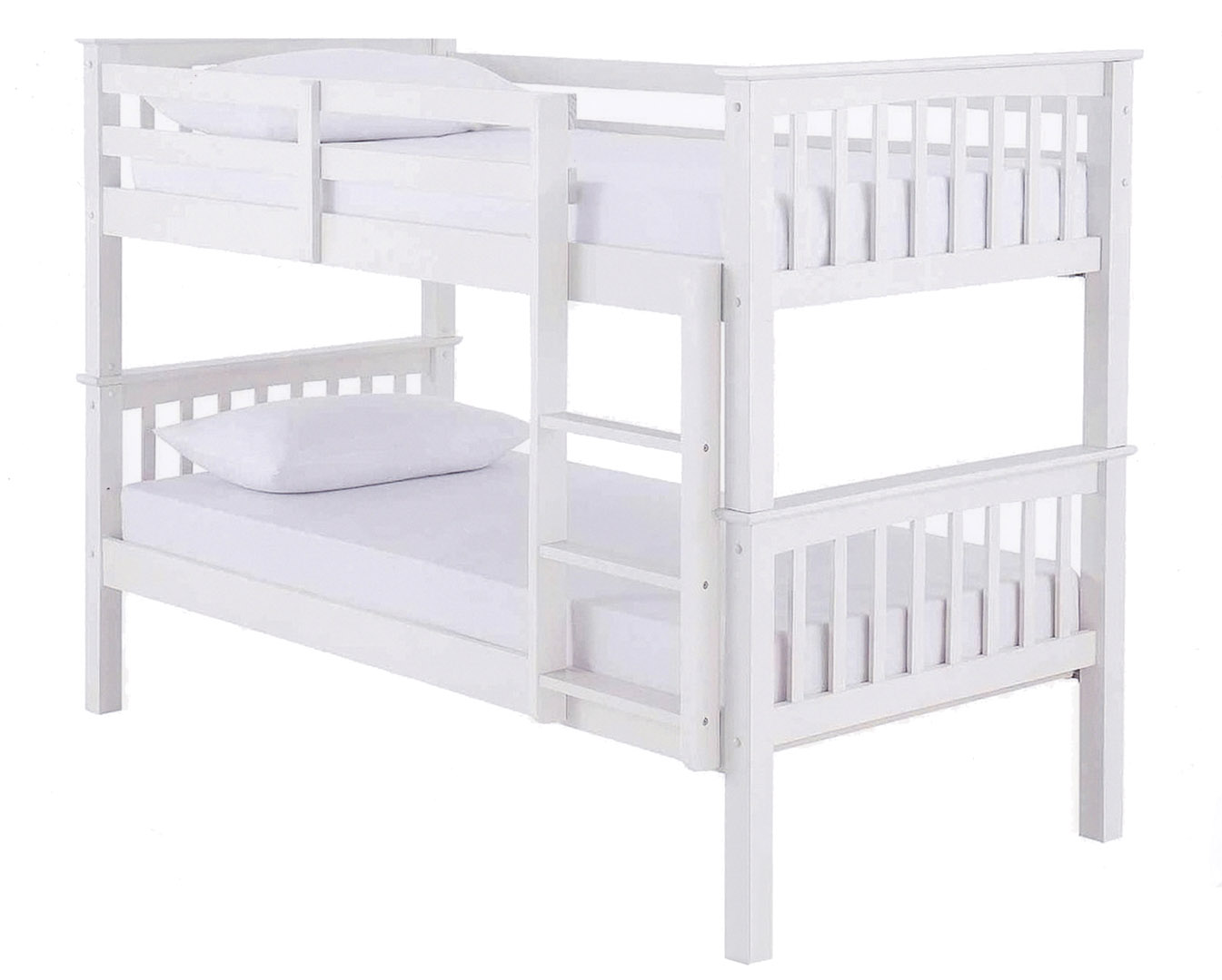 Picture of: White Wood Bunk Beds Frame Blackpool Bed Centre